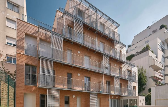 Construction d'un immeuble à ossature bois à Paris