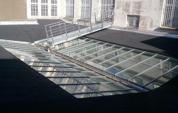 Rénovation d'une verrière à La Sorbonne Paris