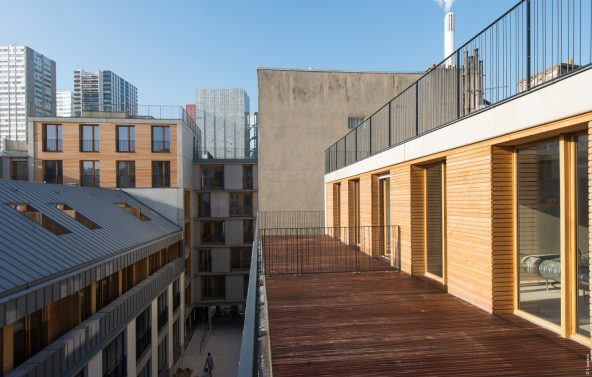 Transformation d'un immeuble à Paris